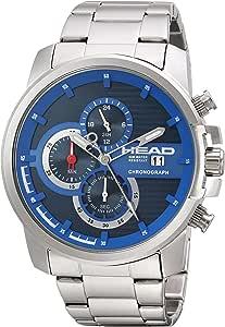 Head Orologio Cronografo Quarzo Uomo con Cinturino in Acciaio Inox HE-003-03