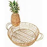 Craft Brio Round Shape Metal Rust Free Wire Mesh Tray/Basket Wedding/Gift/Packing Tray/Decorative Tray