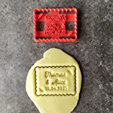 Emporte-pièce petit beurre couple - Personnalisable avec prénom  Conçu et fabriqué en France