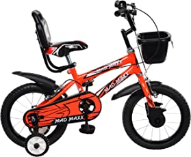 Mad Maxx Steel Kids BMX 14T Road Cycle, 14 inches (Neon Red)