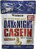 Weider, Day & Night Casein Protein, Schoko-Sahne, 1er Pack (1x 500 g)