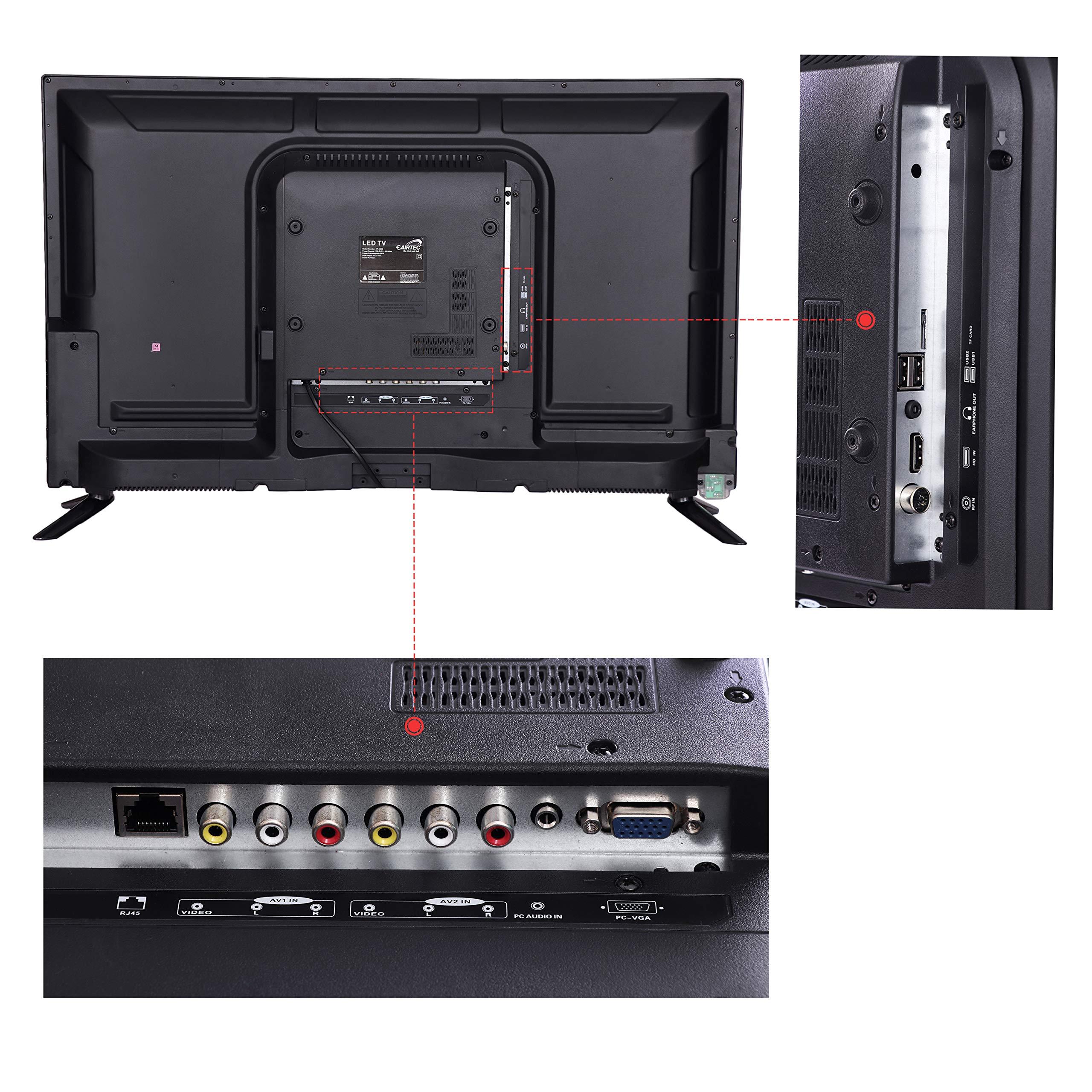 eAirtec 81 cm (32 inches) HD Ready Smart LED TV 32DJSM (Black)