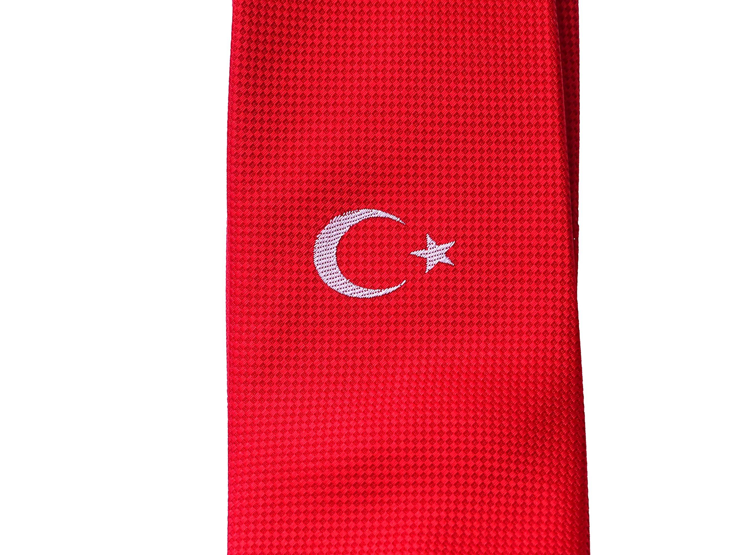 PB Pietro Baldini Türkische National Krawatte - Krawatten türkei flagge - Krawatte attatürk gewebt - Krawatte rot…