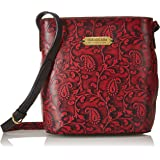 Isle Locada By Hidesign Autumn-Winter 19 Women's Shoulder Bag (Red/Black) (N 1)