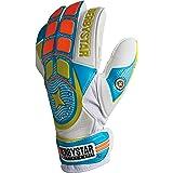 Derbystar Voetbal keepershandschoenen Attack XP11, training wit blauw oranje, 2648