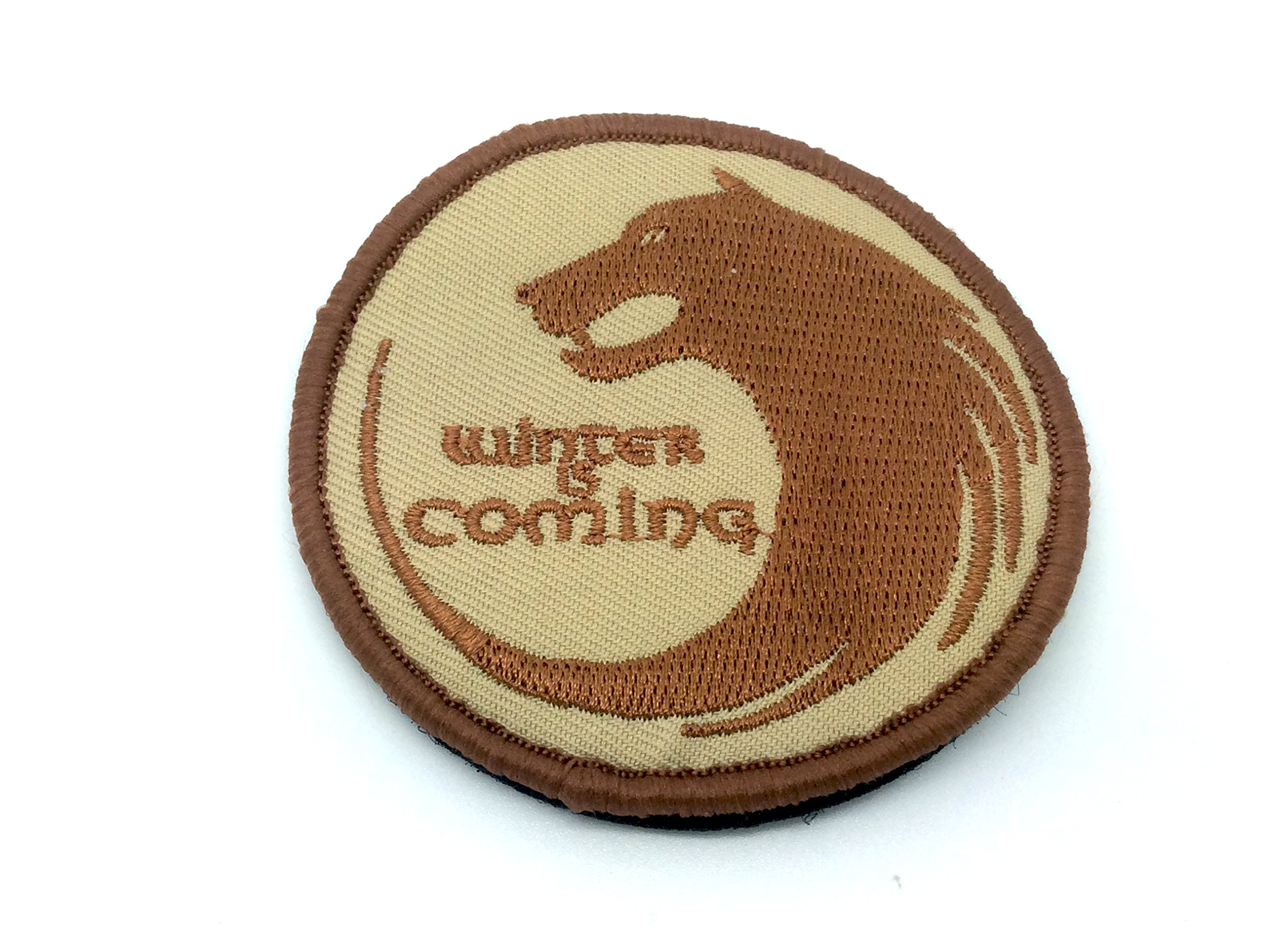 Winter Is Coming Game Of Thrones Ricamato Airsoft Velcro Patch Toppa