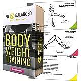 Bodyweight trainingskaarten, complete workouts vormgeven, fitness voor het hele lichaam, sport thuis (+ elke oefening als vid