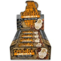Grenade Carb Killa High Protein und Low Carb Riegel, 12 x 60 g - Caramel Chaos
