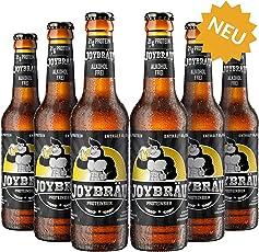 JoyBräu Proteinbier - Alkoholfrei - 21g Protein/Flasche - Erfrischender Biergeschmack mit Zitrusnote - Mit 10g BCAA - Vegan (6x0,33l)