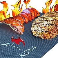 Tapis pour gril Barbecue KONA - Plaques ultra-résistantes et antiadhésives supportant 600 degrés (lot de 2) - Garantie 7…