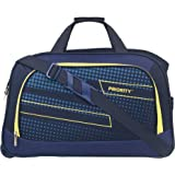 Priority ARC 56 cm Navy Blue Polyester 2 Wheel Duffle Trolley Bag | Travel Luggage for Men's & Women's