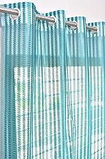 Homefab India Premium Sheer 2 Piece Polyester Curtain Set