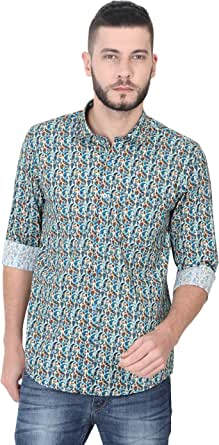 GUNIAA Men (Multi Colour) Digital Printed Cotton Shirts