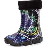 Ladeheid Botas de Agua Zapatos de Seguridad Calzado Unisex Niños Swk2020