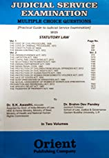 Practical Guide to Judicial Service Examination in TWO VOLUMES Set/Multiple Choice Questions with Statutory Laws as per Syllabus