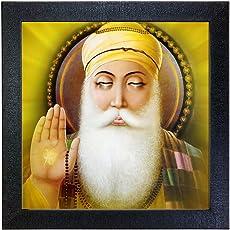 Sehaz Artworks 'Guru Nanak Dev Ji' Wall Photo Painting (Vinyl, 30 cm x 30 cm x 3 cm, Black, SZA-Guru_Nanak_Dev_Ji_001)