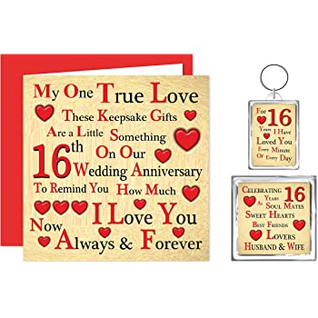 39f51707a3105 Our 16th Wedding Anniversary Gift Set - Card