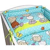 BlueberryShop juego de ropa de cama de algodón, funda de edredón 90 x 120 cm, fundas de almohadas 40 x 60 cm, protector de la