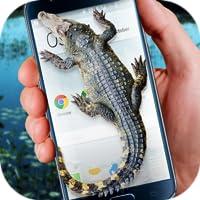 Krokodil im Handy großer Witz