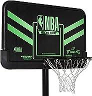 Spalding Unisex Adult NBA Highlight Combo Basketball Backboard - Black/Grey