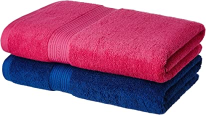 Solimo 100% Cotton 2 piece Bath Towel Set, 500 GSM