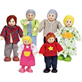 Happy Family Dollhouse Set by Hape |Award Winning Doll Family Set, Unique Accessory for Kid's Wooden Dolls House, Imaginative
