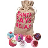 Bomb Cosmetics Santa Says Relax Handgjord Presentförpackning Bath Bombs , 7 delar