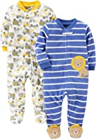 Simple Joys by Carter's Baby - Confezione da 2 pile con piedi per dormire e giocare