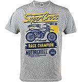 Rule Out Herren Casual T Shirt Motorradclub Steel Iron Automobile Casual Wear Bekleidung