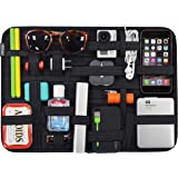 Cocoon GRID-IT XL - Big Organizer, Case with Elastic Straps, Travel Accessories, Wall Organizing System with Ring, 38.1x1x27.9cm - Black