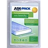 ASK Pack Housse De Protection Matelas Junior Premium pour matelas 90cm de large / 25cm de haut avec fermeture adhésive referm