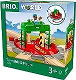 Brio World- Plaque TOURNANTE ET Personnage Accessoire Circuit Train, 33476