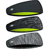 Zollen Mens Headbands 3 Packs Guys Sweatband and Sports Headband for Men for Running, Cross Training, Racquetball…