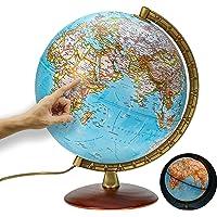 National Geographic - Leuchtglobus im klassischen Stil - 30cm Globus mit stabilem Standfuß und Metall Meridian…