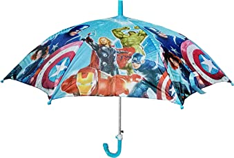 Dhinchak Art Box Special Material Super Heroes Print Small Wala Umbrella for Kids, Up to 8 Years/17-inch Long (Multicolour)