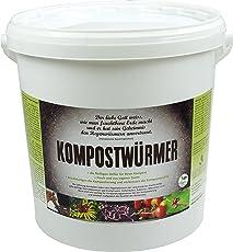 natursache.de KOMPOSTWÜRMER - Kompost-Starter Regenwürmer - Eisenia Kompostwurm lebend aktiv - Würmer für Garten & Kompostierung Kompost Komposter Wurmkomposter Wurmkiste Wurmfarm Komposttoilette