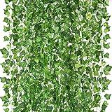 Peoxio konstgjorda hängande växter falska vinstockar silke murgröna blad grönska girlang för bröllop kök vägg utomhus fest fe