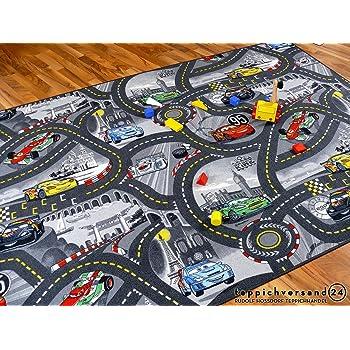 Tapis De Jeu Pour Enfant Disney Cars Gris Circuit De Route 17
