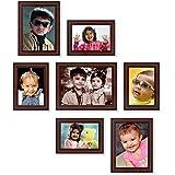 Ajanta Royal Classic Set of 7 Individual Photo Frames (1-6x8,2-5x7 & 4-4x6 Inch) : A-40B (Brown)