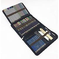 72PCS Crayons de couleurs avec Sac Inclus crayons aquarellables,Crayons Fusain et accessoire dessin dans une grosse…