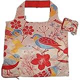 Chilino Nature Faltbare Mehrwegtasche/Umweltfreundlich/Hohe Tragkraft und Fassungsvermögen, Polyester, rot, orange, 47 x 41 c