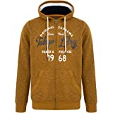Tokyo Laundry Men's Lowell Graphic Print Zip Up Hooded Top