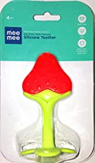 Mee Mee Silicone Strawberry Teether for Baby (6 Months And Above)