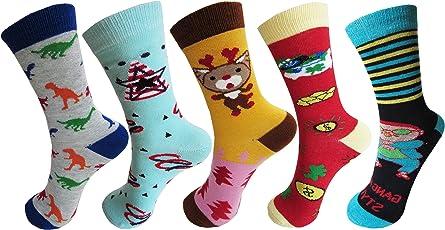 RC. ROYAL CLASS Full Length soft cotton designer socks for kids Boys & Girls (pack of 5 pairs)