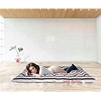 Sale Active Soft White Cotton Filled Mattress/Gadda - (6 x 3 Feet or 72 x 36 Inches,Brown-White Striped Color)