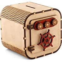Om Shree Wooden Coin Money Piggy Bank Coin Box Birthday Gifts for Kids, Boys, Girls & Adult