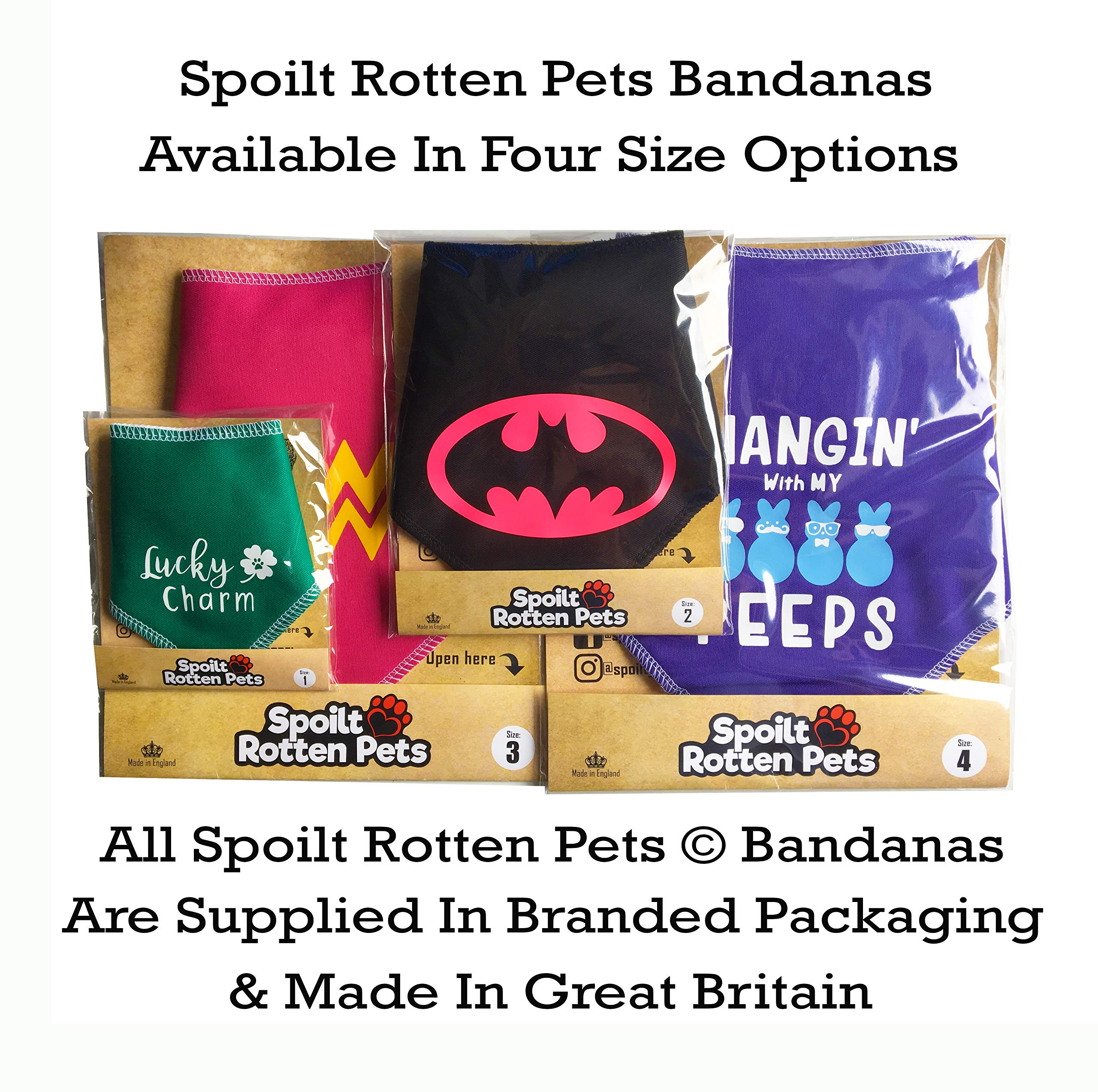 Spoilt Rotten Pets, S2 RED R2 Pee Poo Star Wars Inspired Dog Bandana Suitable For Shih-tzu, Westies, Terriers & Cockerpoo Sized Dogs