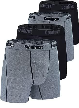 Comfclean, boxer da uomo, 3 o 5 pezzi, in rayon di bambù, ultra morbido, confortevole e senza volare