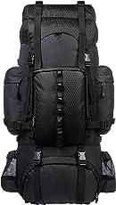 AmazonBasics Internal Frame (Hardback) Hiking Backpack with Raincover, 65Liters (Black)