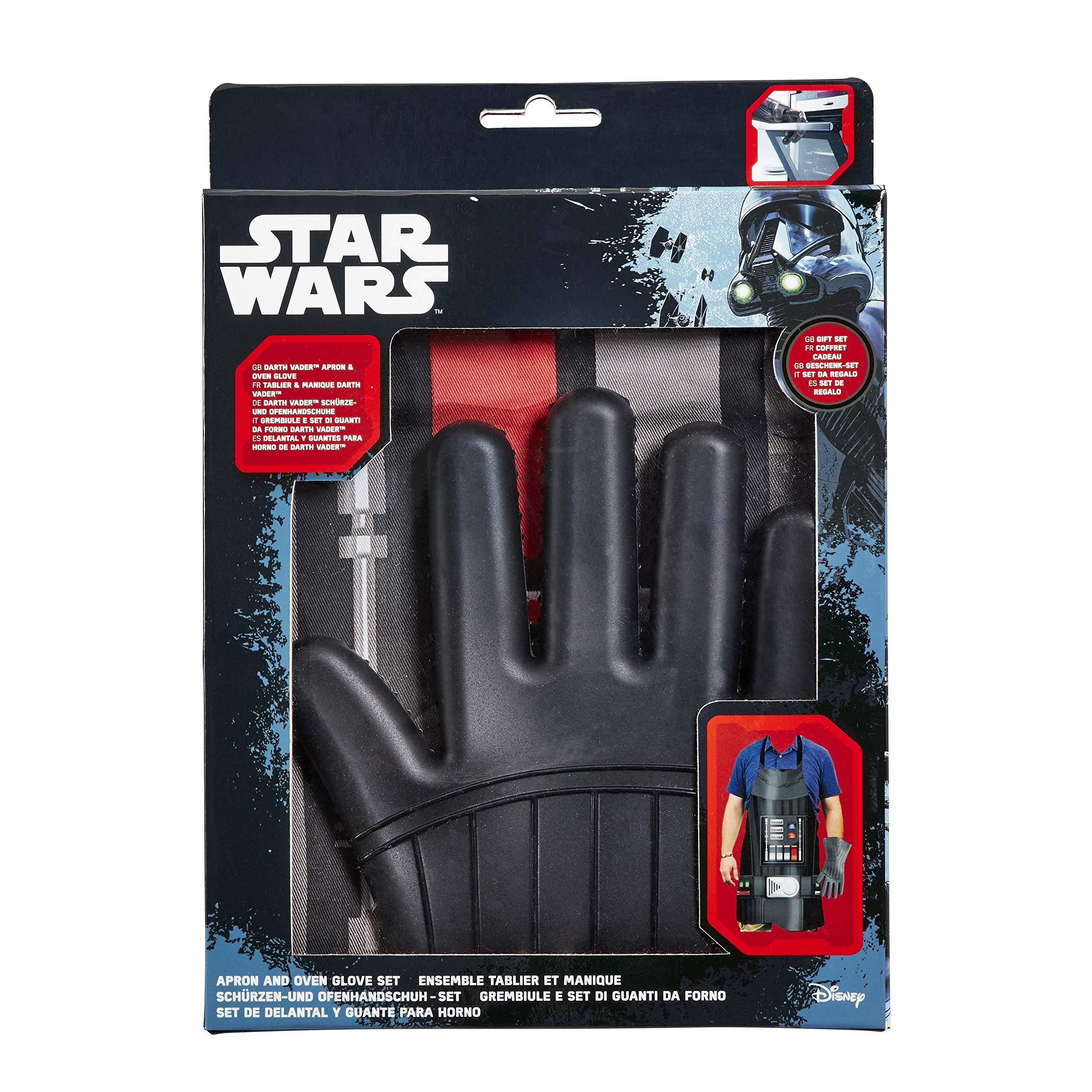 8caa337f7b Star Wars grembiule e guanto da forno Set Regalo: sono Darth grembiule e  guanto da forno in silicone Darth Vader (singolo, set di 2, colore: nero |  ...